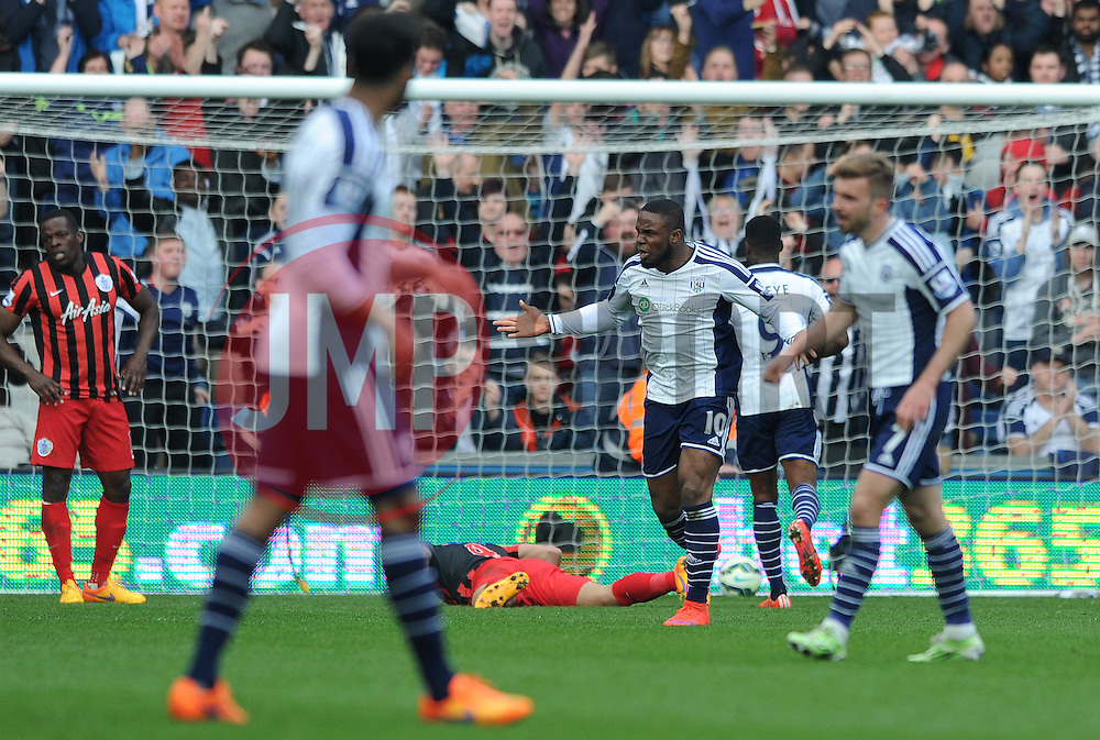 West Bromwich Albion's Victor Anichebe celebrates his goal. - Photo mandatory by-line: Dougie Allward/JMP - Mobile: 07966 386802 - 04/04/2015 - SPORT - Football - West Bromwich - The Hawthorns - West Bromwich Albion v QPR - Barclays Premier League