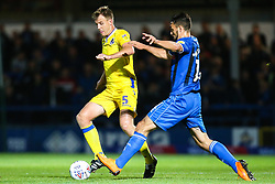 Tony Craig of Bristol Rovers goes past Jordan Williams of Rochdale - Mandatory by-line: Robbie Stephenson/JMP - 02/10/2018 - FOOTBALL - Crown Oil Arena - Rochdale, England - Rochdale v Bristol Rovers - Sky Bet League One