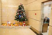 Christmas tree, Dian Li Da Shu (Electric Power Plaza, Taiyuan, Shanxi Province, China
