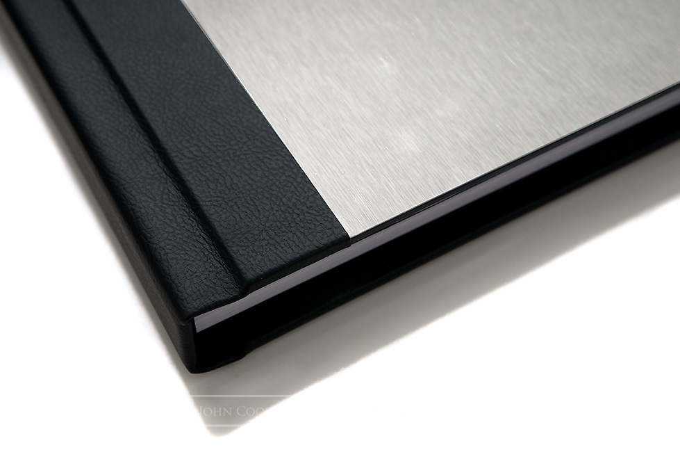 Wedding Photography album with metal cover.