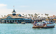 People on the Balboa Island Ferry
