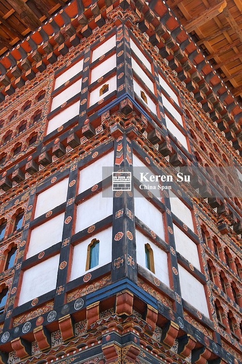 Details of traditional architecture, Paro, Bhutan