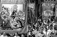 North Selby Branch banner. 1992 Yorkshire Miners Gala, Barnsley.