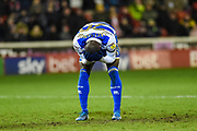 Bright Osayi-Samuel of Queens Park Rangers hold his head after a missed chance during the EFL Sky Bet Championship match between Barnsley and Queens Park Rangers at Oakwell, Barnsley, England on 14 December 2019.