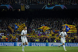 October 24, 2018 - Barcelona, Catalonia, Spain - Catalan independence symbols and flags pro Independence of Catalonia and freedom for political prisoners during the UEFA Champions League match between FC Barcelona v FC Internazionale Milano at Camp Nou Stadium, in Barcelona on 24 of October, 2018. (Credit Image: © Xavier Bonilla/NurPhoto via ZUMA Press)
