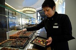 BRUSSELS, BELGIUM - JAN-13-2006 -  A  designer assortment of Pierre Marcolini chocolates. (PHOTO © JOCK FISTICK)
