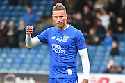 Bury Defender, Reece Brown warms up during the The FA Cup third round match between Bury and Bradford City at Gigg Lane, Bury, England on 9 January 2016. Photo by Mark Pollitt.