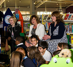Pictured: Evelyn Kilmurray, Library and information manager, Fiona Hyslop and Pamela Tulloch, Chief Executive of SLIC<br /> Culture Secretary Fiona Hyslop MSP visited Wester Hailes Library in Edinburgh today to meet primary-school pupils and Edinburgh City Council officials  to announce libraries support package<br /> <br /> Ger Harley | EEm 7 September 2016