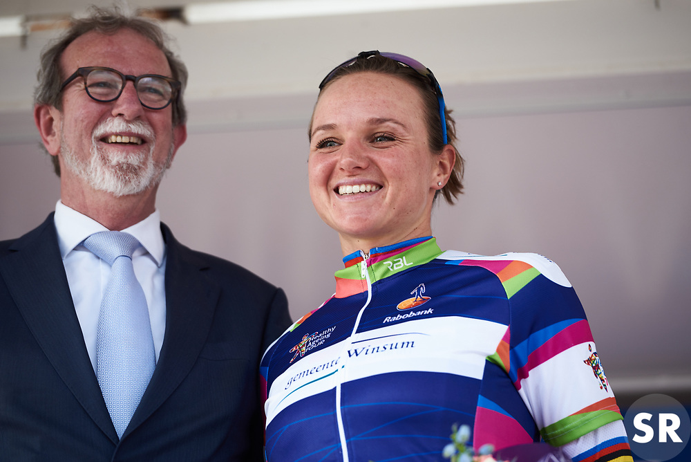 Race winner, Chantal Blaak (NED) at Healthy Ageing Tour 2018 - Stage 4, a 143 km road race starting and finishing in Winsum on April 7, 2018. Photo by Sean Robinson/Velofocus.com