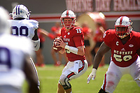 Wolfpack quarterback Ryan Finley looks to throw against Furman.