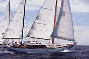 Petrana sailing in the Old Road Race at the 2011 Antigua Classic Yacht Regatta.