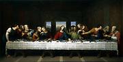 The Last Supper' (1803) Michael Kock (1765-1825) copy of the picture by Leonardo da Vinci. Private Collection