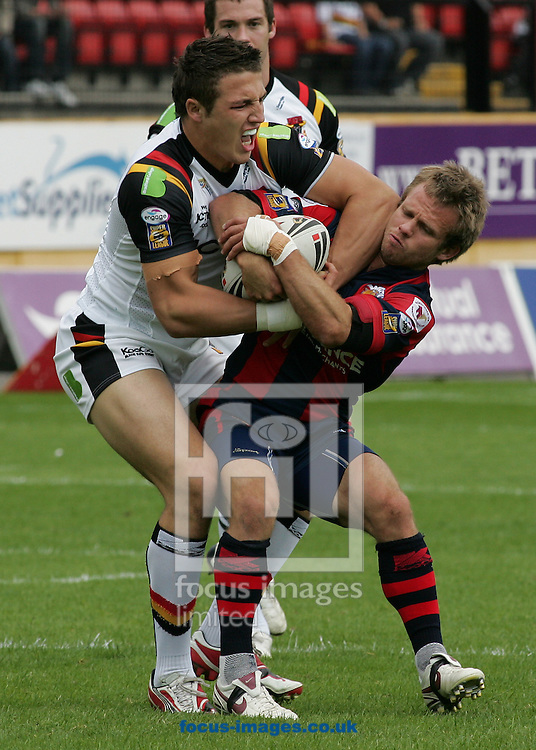 Bradford - Sunday, July 20th, 2008: Bradford's Sam Burgess in action against Wakefield's Sm Obst during the Engage Super League match at the Grattan Stadium, Bradford (Pic by Michael Sedgwick/Focus Images)