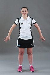 Umpire Jenny Fissenden signalling obstruction of player without ball