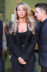 Tulisa Contostavlos leaving  Westminster Magistrates Court in London,  Thursday, 19th December 2013. Picture by Stephen Lock / i-Images