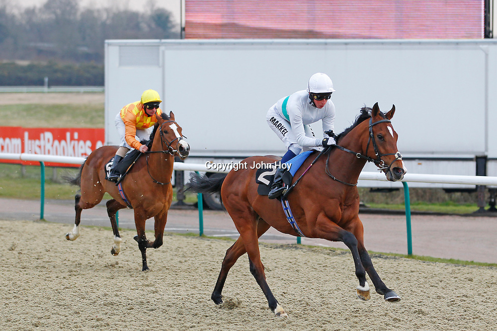 Bright Strike and William Buick winning the 4.30 race