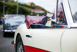 © Licensed to London News Pictures. <br /> 10/09/2017 <br /> Saltburn by the Sea, UK.  <br /> <br /> Drivers line up ahead of their heat during the annual Saltburn by the Sea Historic Gathering and Hill Climb event. Organised by Middlesbrough and District Motor Club the event brings together owners of a wide range of classic cars and motorcycles dating from the early 1900's to 1975. Participants take part in a hill climb to test their machines up a steep hill near the town. Once held as a competitive gathering a change in road regulations forced the hill climb to become a non-competitive event.<br /> <br /> Photo credit: Ian Forsyth/LNP