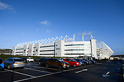 General view outside the Liberty Stadium ahead of the EFL Sky Bet Championship match between Swansea City and Middlesbrough at the Liberty Stadium, Swansea, Wales on 14 December 2019.