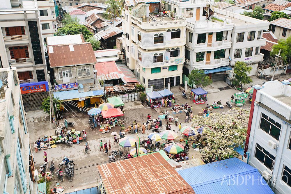 skyline, city, view, cityscape, mandalay myanmar burma