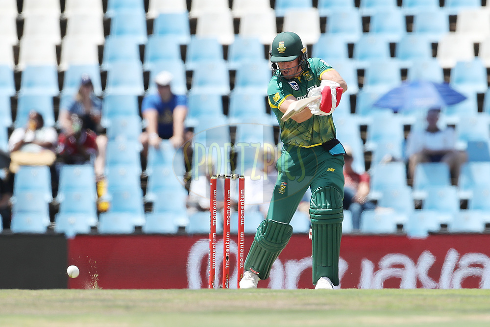 AB de Villiers of South Africa  during the 6th One Day International match between South Africa and India held at Supersport Park Cricket Ground in Centurion on the 16th Feb 2018 <br /> <br /> Photo by Ron Gaunt / BCCI / SPORTZPICS