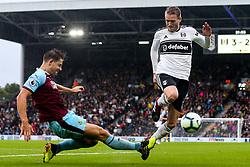 Andre Schurrle of Fulham takes on James Tarkowski of Burnley - Mandatory by-line: Robbie Stephenson/JMP - 26/08/2018 - FOOTBALL - Craven Cottage - Fulham, England - Fulham v Burnley - Premier League