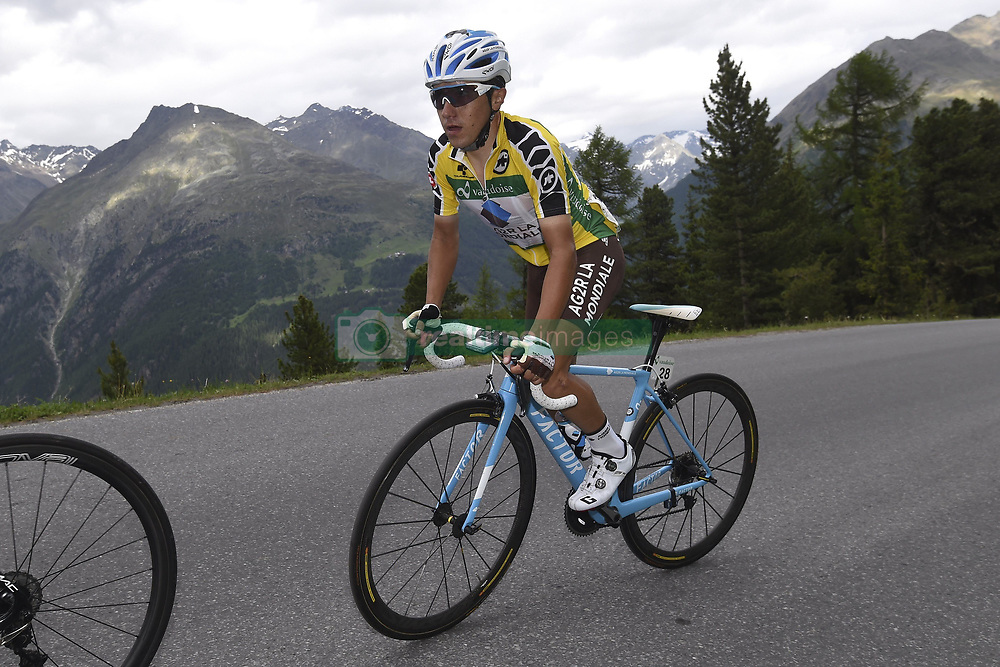 June 16, 2017 - Solden, Suisse - SOLDEN, AUSTRIA - JUNE 16 : POZZOVIVO Domenico of AG2R La Mondiale during stage 7 of the Tour de Suisse cycling race, a stage of 160 kms between Zernez and Solden on June 16, 2017 in Solden, Austria, 16/06/2017 (Credit Image: © Panoramic via ZUMA Press)