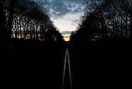 nederland, enschede, 27feb2015 spoorlijn enschede - gronau