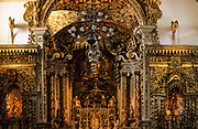 Tiradentes. São Antonio church (1710-1730), one of the richest church of Minas, decorated using more gold than any church in Minas.
