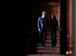 REVIEW OF THE DECADE - ROYAL File photo dated 13/02/18 of Prince Harry and Meghan Markle walking through the corridors of the Palace of Holyroodhouse on their way to a reception for young people at the Palace, in Edinburgh.