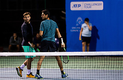 Sarp Agabigun and Altug Celikbilek of Turkey playing Doubles in 3rd Round of ATP Challenger Zavarovalnica Sava Slovenia Open 2019, day 7, on August 15, 2019 in Sports centre, Portoroz/Portorose, Slovenia. Photo by Vid Ponikvar / Sportida