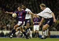 Picture: Henry Browne.<br /> Date: 03/01/2004.<br /> Tottenham Hotspur v Crystal Palace FA Cup 3rd Round.<br /> Neil Shipperley of Palace gets hold of Gary Doherty's shirt.
