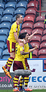 Stephen Ward of Burnley is congratulated on his goal during the Sky Bet Championship match at the John Smiths Stadium, Huddersfield<br /> Picture by Graham Crowther/Focus Images Ltd +44 7763 140036<br /> 12/03/2016