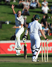 Hamilton-Cricket, New Zealand v South Africa, 2nd test, day 1