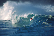 Bodyboarding, Waimea Bay, Oahu, Hawaii (editorial use only, no model release)<br />