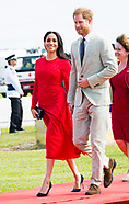 Meghan Markle & Prince Harry Arrival Tonga 2