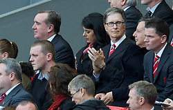 15.04.2013, Anfield Road, Liverpool, ENG, PL, Liverpool FC, 24. Jahrestag der Hillsborough Katastrophe, im Bild Liverpool's owner John W. Henry and Managing Director Ian Ayre during the 24th Anniversary Hillsborough Service at Anfield, Liverpool, United Kingdom on 2013/04/15. EXPA Pictures © 2013, PhotoCredit: EXPA/ Propagandaphoto/ David Rawcliffe..***** ATTENTION - OUT OF ENG, GBR, UK *****
