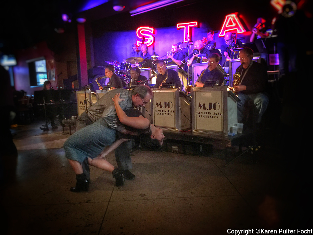 A couple dances to a big band on Beale Street in Memphis, Tennessee  © Karen Pulfer Focht-ALL RIGHTS RESERVED-NOT FOR USE WITHOUT WRITTEN PERMISSION