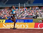 Kenya's Eunice Sum wins the women's 800m during the Sainsbury's Birmingham Grand Prix IAAF Diamond League Meeting at Alexandra Stadium, Birmingham, West Midlands, England on June  07  2015. (Steve Flynn/Image of Sport)