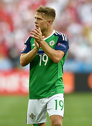 Jamie Ward of Northern Ireland  - Mandatory by-line: Joe Meredith/JMP - 12/06/2016 - FOOTBALL - Stade de Nice - Nice, France - Poland v Northern Ireland - UEFA European Championship Group C