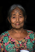 Ao Naga woman with facial tattoos<br /> Ao Naga headhunting Tribe<br /> Mokokchung district<br /> Nagaland,  ne India