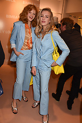 Left to right, Emma Laird and Sarah Mikaela at launch of Bimba Y Lola, 295 Brompton Road, London England. 26 April 2018.