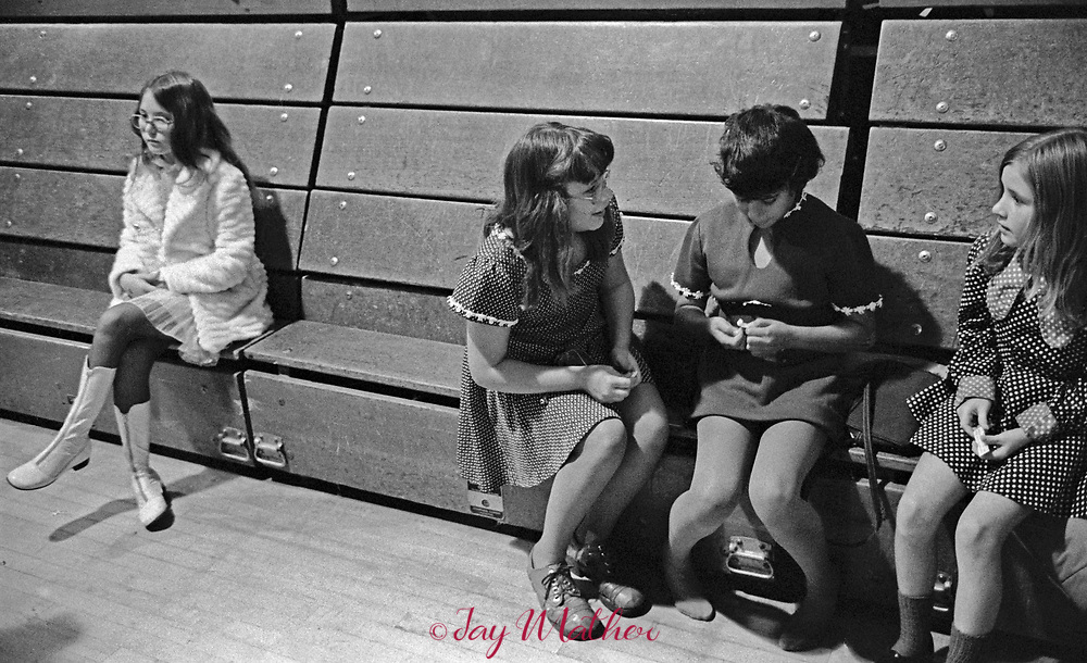 A scene at a junior high school dance party in Arvada, CO, 1974.