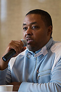 Kaleem Caire speaks during the Cap Times Idea Fest 2018 at the Pyle Center in Madison, Wisconsin, Saturday, Sept. 29, 2018.