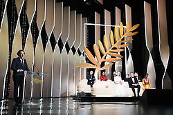 Mexican director and President of the Jury of the Cannes Film Festival Alejandro Gonzalez Inarritu (Bottom L) speaks on stage on May 25, 2019 during the closing ceremony of the 72nd edition of the Cannes Film Festival in Cannes, southern France. Photo by David Niviere/ABACAPRESS.COM