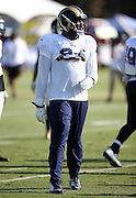 Los Angeles Rams defensive end Robert Quinn (94) looks on during the Los Angeles Rams 2016 NFL training camp football practice held on Tuesday, Aug. 2, 2016 in Irvine, Calif. (©Paul Anthony Spinelli)