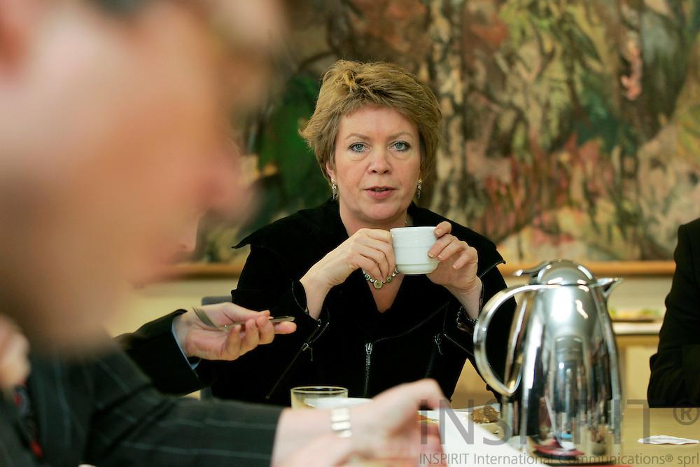 BRUSSELS - BELGIUM - 09 FEBRUARY 2006 -- Åslaug Maria HAGA, Norwegian Minister of Local Government and Regional Development. PHOTO: ERIK LUNTANG /