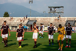 Players of Triglav look dejected after the football match between NK Triglav and NK Celje in 7th Round of Prva liga Telekom Slovenije 2019/20, on August 25, 2019 in Sports park, Kranj, Slovenia. Photo by Vid Ponikvar / Sportida