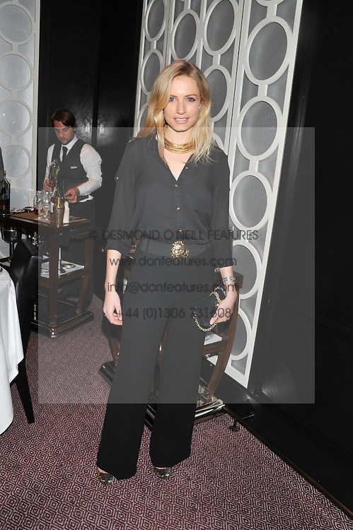 SOFIA WELLESLEY at a dinner hosted by Marcus Wareing and Johnnie Walker Blue Label in The Private Dining Room, Marcus Wareing at The Berkeley, Wilton Place, London on 7th November 2012.