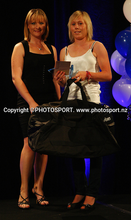 Junior Sportswoman of the Year Betsy Hassett for soccer.  Sport Auckland Sporting Excellence Awards, 11 December 2008. Tasman Room, Alexandra Park Function Centre, Auckland, New Zealand. Photo: Simon Watts/PHOTOSPORT