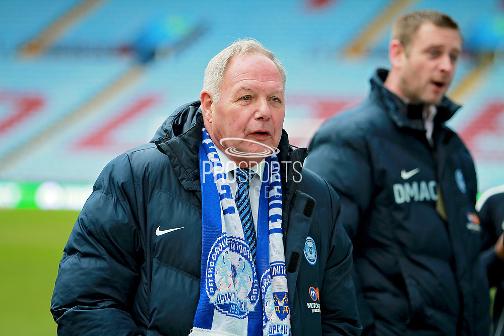 Peterborough United Director of Football Barry Fry and owner Darragh McAnthony before The FA Cup 3rd round match between Aston Villa and Peterborough United at Villa Park, Birmingham, England on 6 January 2018. Photo by Nigel Cole.
